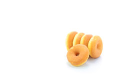 Mini donuts isolated on white background Stock Photos