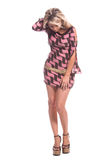 Mini Dress Blond Royalty Free Stock Images