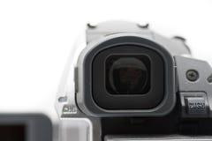 Mini DV buscador de opinión de la videocámara de la videocámara Foto de archivo libre de regalías