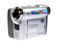 Mini DV Camera Clouse - UP Royalty Free Stock Images