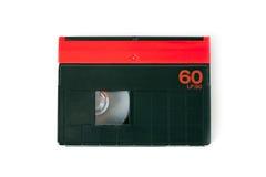 Mini DV cassette. On white background Stock Photos