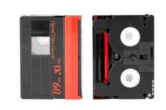 Mini DV cassette. Mini DV magnetic tape on a white background Stock Photography