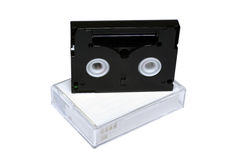 Mini-dv cassettes Foto de archivo libre de regalías