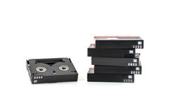 Mini DV Cassettes isolated on white Stock Photography