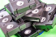 Mini DV cintas de casete del vintage - concepto de la tecnología del vintage fotografía de archivo libre de regalías