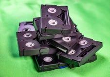Mini DV cintas de casete del vintage - concepto de la tecnolog?a del vintage imágenes de archivo libres de regalías