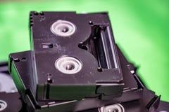 Mini DV cintas de casete del vintage - concepto de la tecnolog?a del vintage fotos de archivo libres de regalías