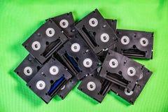 Mini DV cintas de casete del vintage - concepto de la tecnolog?a del vintage foto de archivo