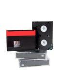 Mini dv del viejo de video minidv analogico de las cintas Fotos de archivo libres de regalías