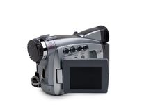 Mini DV Recorder on White Stock Image
