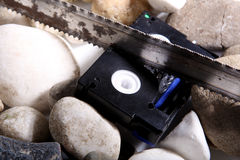 Mini DV tape Stock Image