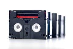 Mini DV tape. On white background Stock Image