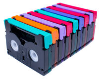 Mini DV Tape colorful isolate Royalty Free Stock Photo