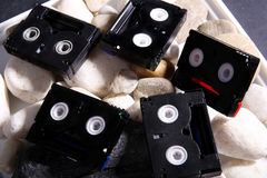Mini DV tapes Stock Photo