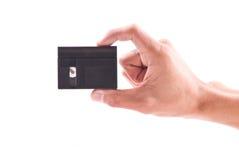 Mini DV Video Tape. Hand Holding a Mini DV Video Tape royalty free stock photo