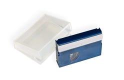 Mini DV wideo kaseta z skrzynką Zdjęcie Royalty Free