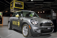 Mini E Electric Car - 2010 Geneva Motor Show Royalty Free Stock Photo