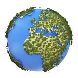 Mini Earth-planeet vector illustratie