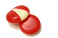 Mini edam cheeses Stock Photos