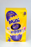 Mini Egg. CHESTER, UNITED KINGDOM - March 19 2017: Cadbury`s Mini Eggs Easter Egg box. A popular chocolate treat for the Easter holidays Royalty Free Stock Photos