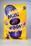 Mini Egg. CHESTER, UNITED KINGDOM - March 19 2017: Cadbury`s Mini Eggs Easter Egg box. A popular chocolate treat for the Easter holidays Stock Photography
