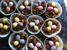 Mini Egg Easter Cakes Royalty Free Stock Image