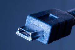 Mini enchufe del usb Fotografía de archivo