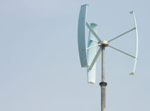 Mini energía eólica foto de archivo