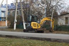 Mini-escavatore Fotografia Stock Libera da Diritti