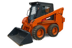 Mini escavatore arancione della rotella Immagine Stock