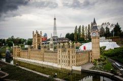 Mini Europa z Big Ben i wieżą eifla Fotografia Stock