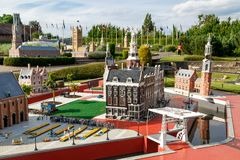 Mini Europe Exhibition in Brussels Stock Image