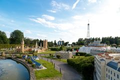 Mini Europe Exhibition in Brussels Royalty Free Stock Photo