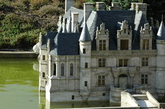 Mini Europe Parc a Bruxelles, Belgio - castello francese Fotografia Stock Libera da Diritti