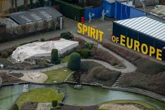 Mini-Europe theme park from above. Closeup of Greek Acropolis mi Royalty Free Stock Images