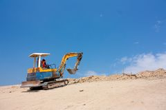 Mini excavator Stock Image