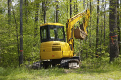 Mini Excavator. Mini Yellow Excavator Royalty Free Stock Image