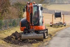 Mini excavator Stock Photo