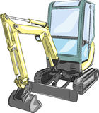 Mini excavator.Vector illustration Royalty Free Stock Photography