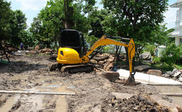 Mini Excavators Lizenzfreies Stockbild