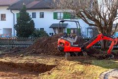 Mini Excavators stock afbeelding