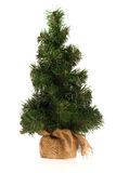 Mini Fake Christmas Tree royalty-vrije stock afbeelding