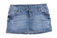 Mini falda azul Fotos de archivo