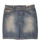 Mini falda de Jean Foto de archivo