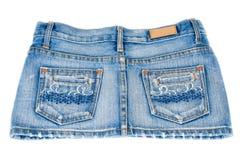 Mini falda de los pantalones vaqueros Foto de archivo