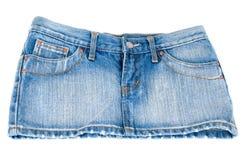 Mini falda de los pantalones vaqueros Foto de archivo libre de regalías