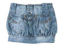 Mini falda del dril de algodón Imágenes de archivo libres de regalías
