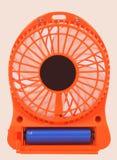Mini fan arancio Immagini Stock Libere da Diritti