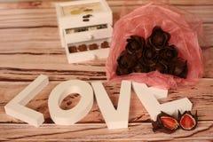 Mini festins de chocolat image stock