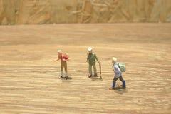 Mini Figure av handelsresanden på deras spets Royaltyfria Foton
